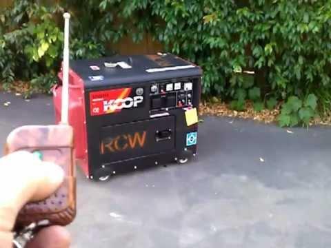 Silent Diesel generator KOOP with remote control start, RCD circuit breaker