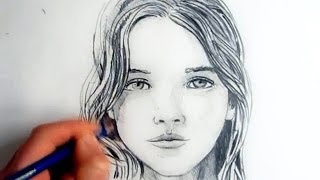 How To Draw A Female Face: Step By Step(Learn How to Draw a Female Face step by step. See How To Draw A Realistic Eye: https://www.youtube.com/watch?v=SL52ykhLo8A SUBSCRIBE for new How ..., 2013-11-05T22:39:53.000Z)