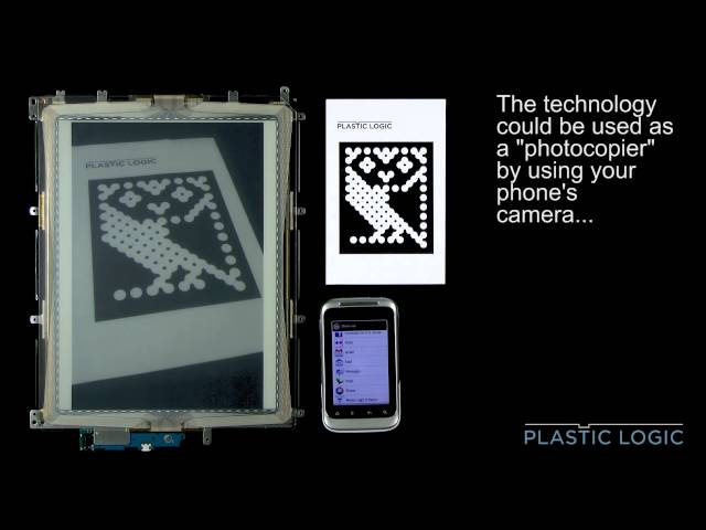 Electronic paper as a mobile phone accessory