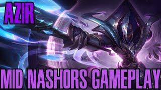 League of Legends - Azir Mid com Nashors Gameplay - WHEPA FARM LINDO [PT-BR]