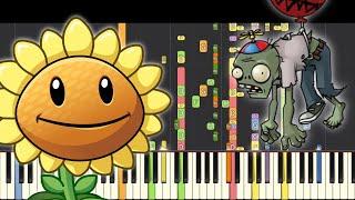 Plants vs. Zombies Theme Song - NPT Music Remix - Piano Cover видео