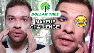 Full face of Dollar Tree Makeup - Trying Dollar Tree Makeup Challenge