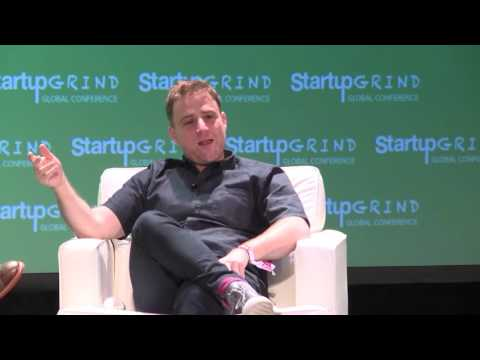 Stewart Butterfield (Slack) and Andrew Braccia (ACCEL Partners) at Startup Grind Global 2016
