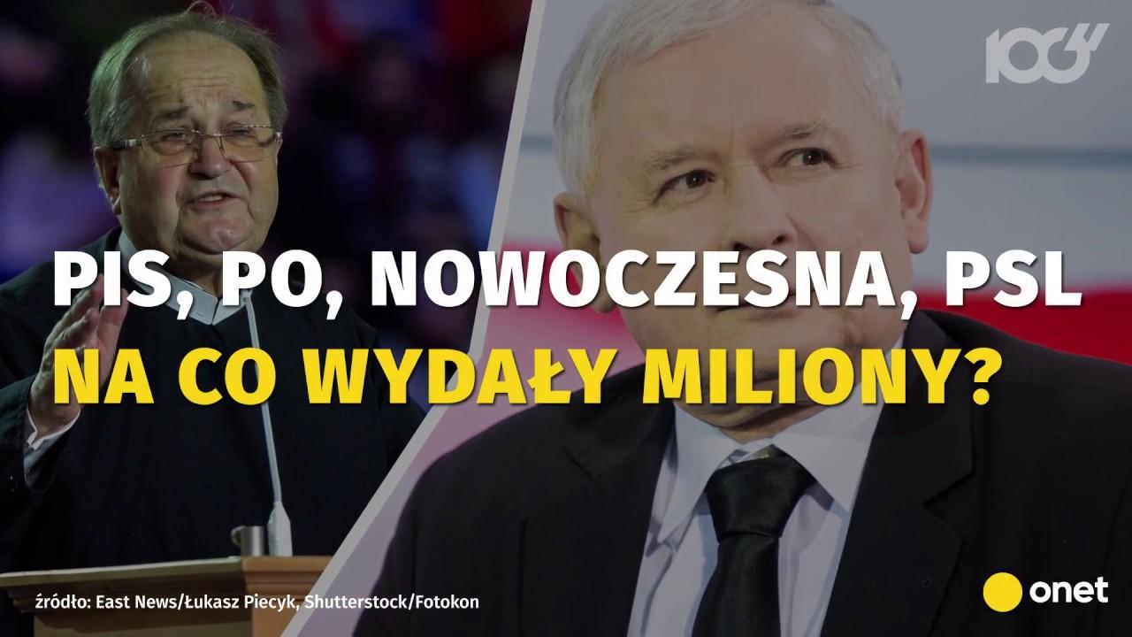 Na co polskie partie wydają miliony złotych?