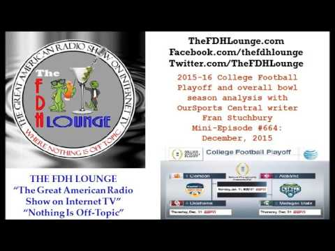 Mini-Episode #664 - December 2015 - 2015-16 College Football Playoff Preview