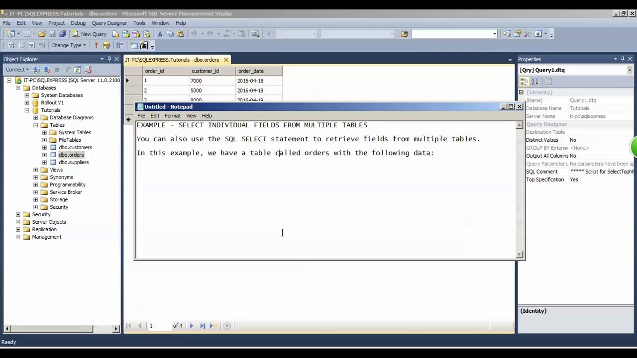 Sql query from two tables - Sql join tables from different databases ...
