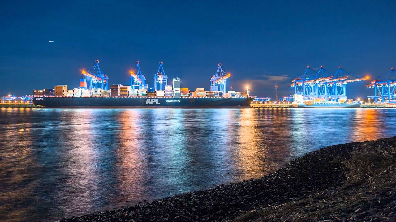 Hamburger Hafen bei Nacht - Kattwyk I - YouTube