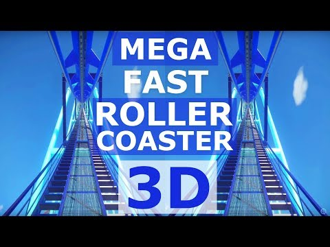 Mega Fast Roller Coaster Side by Side SBS 3D VR Planet Coaster DIY self built