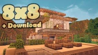 видео: Minecraft 8x8 house - мобильный дом 3.