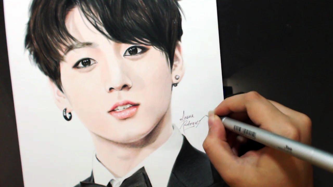 Drawing Jungkook 전정국 Bts 방탄소년단