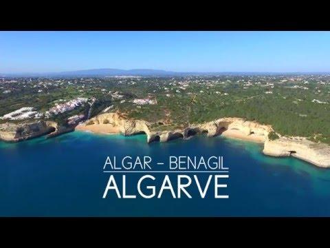 Algar de Benagil - Secret beach inside cave - aerial view @Benagil (Portugal)