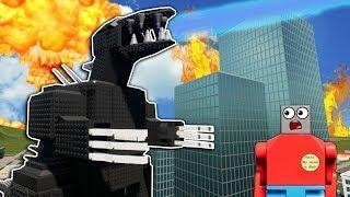 LEGO GODZILLA ATTACKS NEW LEGO CITY! - Brick Rigs Roleplay Gameplay - New Update