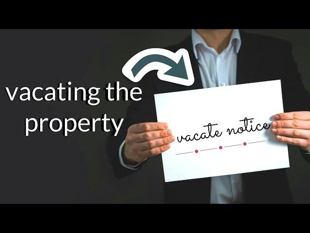 Vacate Notice - Renting Through QPL Real Estate