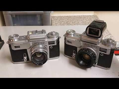 Kiev 4, rangefinder camera, loading with expired ColorPlus 200