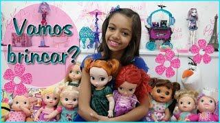Vamos brincar? Baby Alive, Princesas Disney e Amy - Let