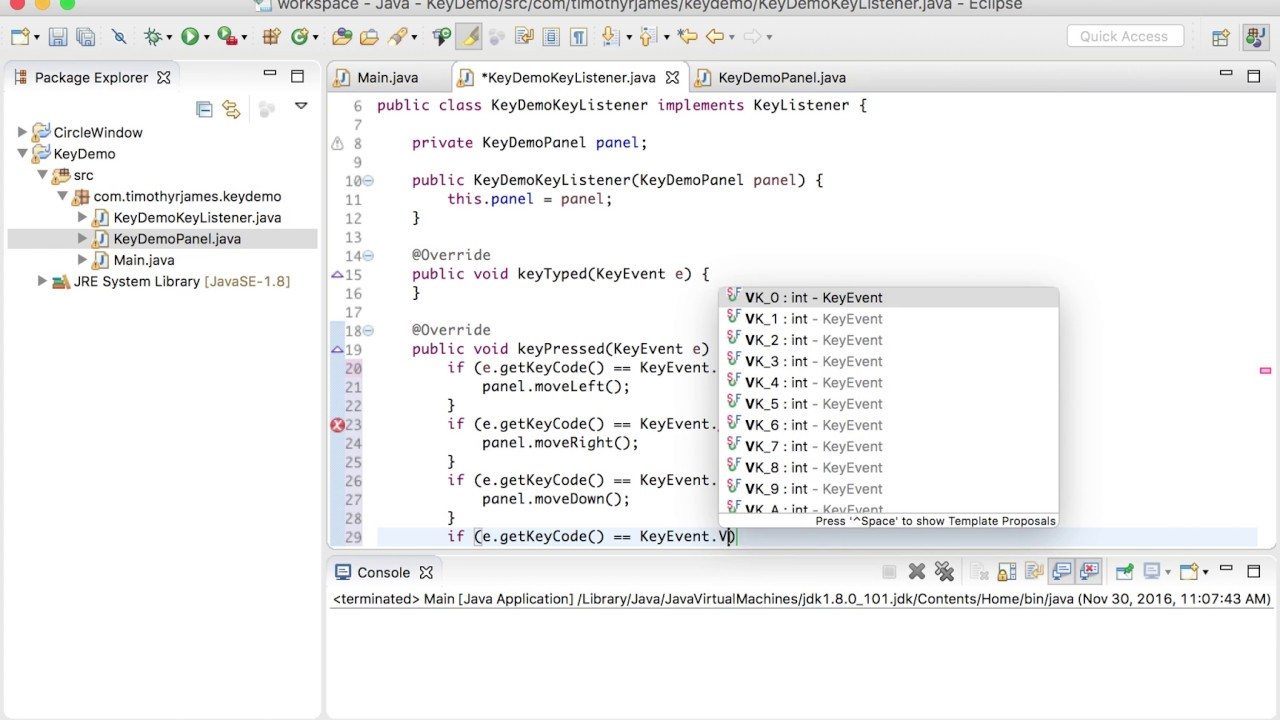 Java 21 working with key events in java youtube java 21 working with key events in java baditri Image collections