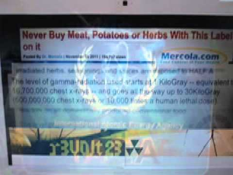 FDA SUPPORTS, PROMOTE IRRADIATED FOOD!?? BE AWARE