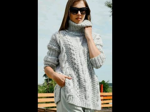 Вязание спицами модели и схемы свитера женские