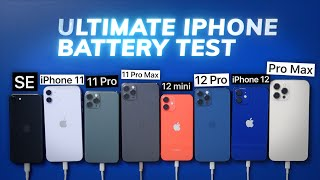 Ultimate iPhone BATTERY Test: 12 Pro Max vs 12 Pro / 12 / mini / 11 Pro Max / Pro / 11 / iPhone SE