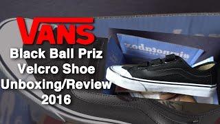 Vans: Black Ball Priz Velcro Shoe