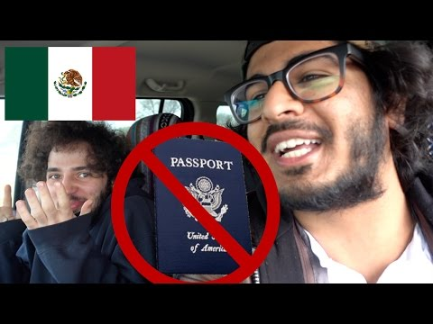 MEXICAN BORDER CROSSING WITHOUT A PASSPORT! - Ciudad Acuña and Playa Tlaloc