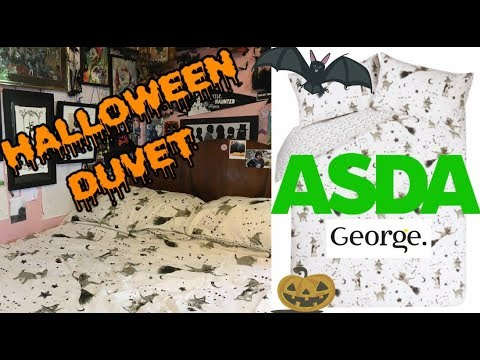 Asda Halloween Duvet Cover George Wizard And Witch Cats Homeware