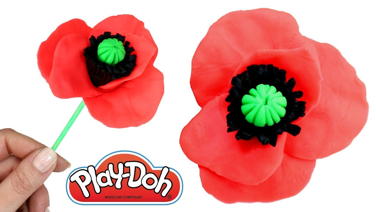Play Doh Poppy Flower How to Make Flowers Cool Play-Doh Creations ...