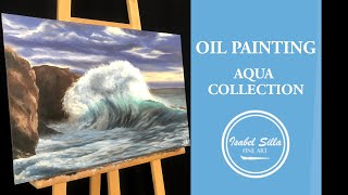 "Oil painting ""Tidal wave"" process 