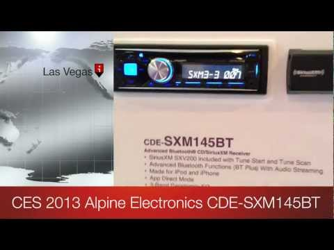 Alpine Electronics CDE-SXM145BT CD Player and SiriusXM package CES 2013 DEBUT!