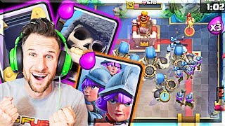 😍 we WON the CHALLNGE with WHAT!?  (Clash Royale Molt)