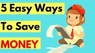 5 Easy Ways To Save More Money | How to save more and spend less