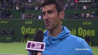 Novak Djokovic vs Verdasco - Post-Match Interview Doha 2017
