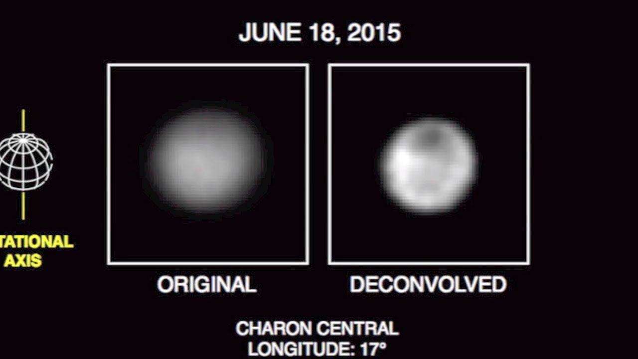 Pluto Surface Features Visible Charon Has Dark Pole Video