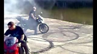 Zlot Motocyklowy Koszęcin 2009 Palenie Gumy