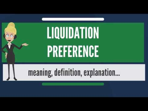 What is LIQUIDATION PREFERENCE? What does LIQUIDATION PREFERENCE mean?