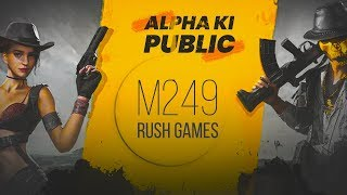 🔴PUBG MOBILE LIVE : M249 RUSH GAMES AND NEW GLITCHES! (FACECAM!) || H¥DRA | Alpha😍