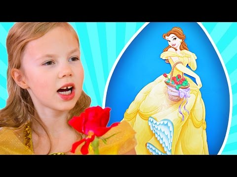 GIANT BEAUTY AND THE BEAST EGG 🌹 Disney Singing Emma Watson Belle, NEW TOYS 2017
