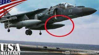 【胴体着陸】前輪が出ない! ハリアー攻撃機の神ワザ操縦技術 - AV-8B Harrier II Belly Landing on Amphibious Assault Ship