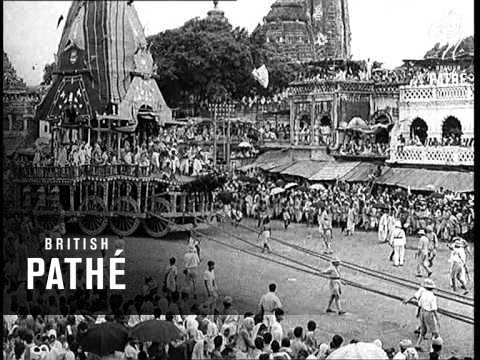 Celebrating The Festival Of Jagannath In India (1937)