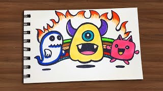 How to draw cute doodles || Draw For Kids