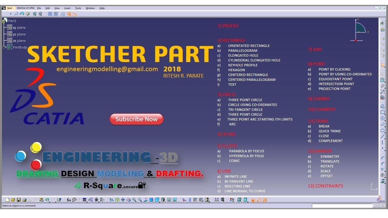 catia v5 sketcher tutorial pdf