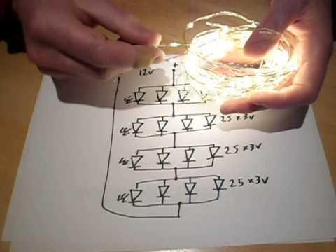 analysis of a 100 led string of  u0026quot wire lights u0026quot  youtube christmas light schematic
