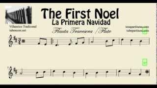 La Primera Navidad Partitura de Flauta Travesera, Dulce y de Pico The First Noel