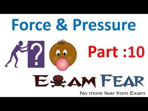Physics Force & Pressure Part 10 (Atmospheric Pressure) Class 8  VIII