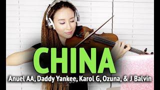 Anuel AA, Daddy Yankee, Karol G, Ozuna & J Balvin-China violin cover