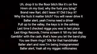 Tyga - Baller Alert (Lyrics) Ft  Rick Ross & 2 Chainz Mp3
