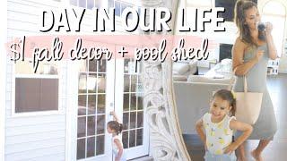 DITL VLOG | DOLLAR TREE FALL + NEW POOL SHED | MOM LIFE