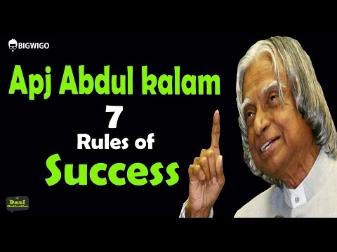 Apj Abdul Kalam 7 Rules of Success Inspirational Speech | Motivational Interviews