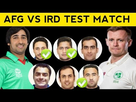 Afghanistan vs Ireland Test Match || Afghanistan Playing 11 In Pashto