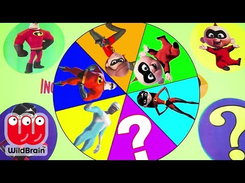 Disney Pixar Incredibles 2 Movie Jack Jack,Dash, Violet And LOL Dolls Play SPIN THE WHEEL Challenge